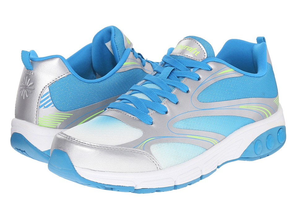 THERAFIT Arielle Blue/Silver Womens Lace up casual Shoes
