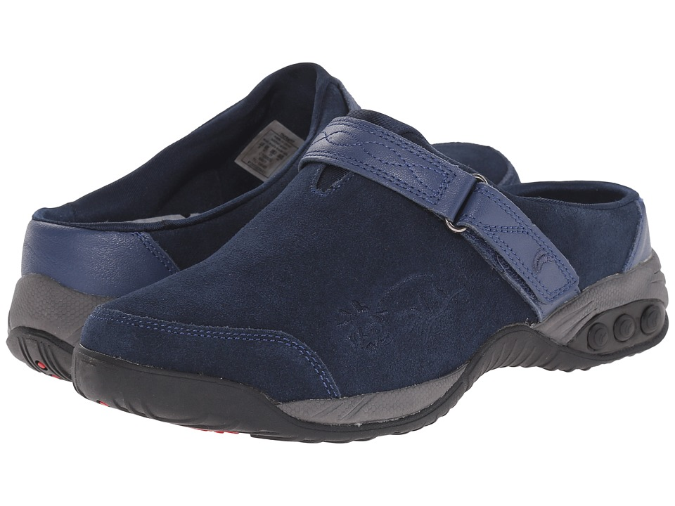 THERAFIT Austin Navy Womens Slip on Shoes