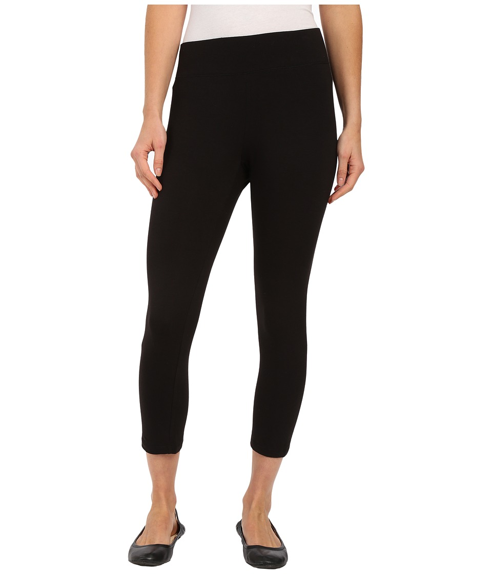 HUE Ultra Capris w/ Wide Waistband (Black) Women
