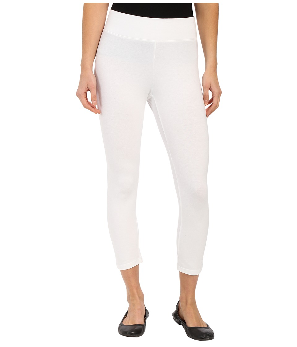 HUE Ultra Capris w/ Wide Waistband (White) Women