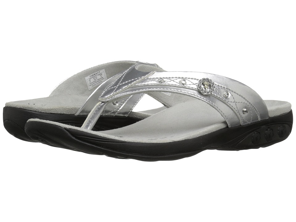 THERAFIT Brittany Silver Womens Sandals
