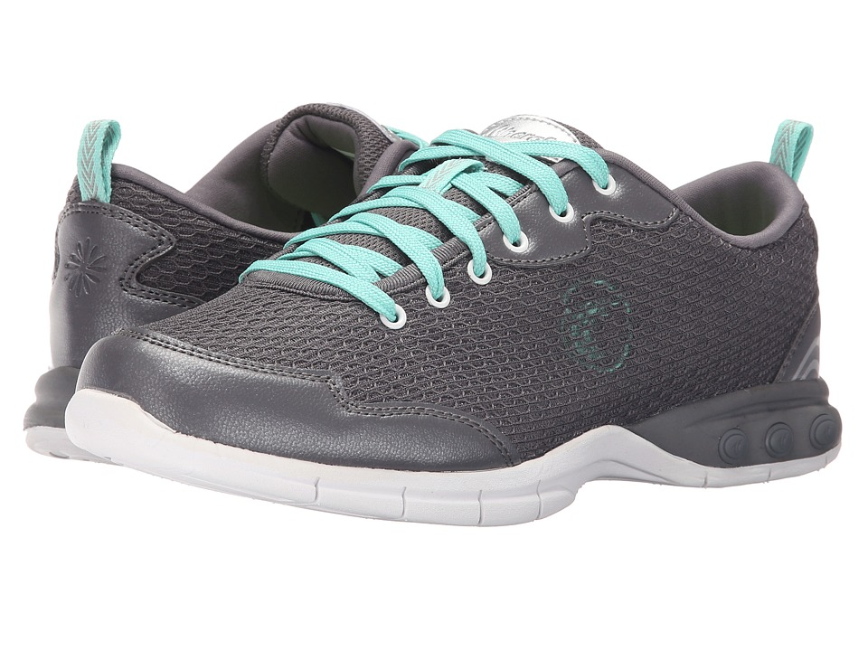 THERAFIT Candy Walker Dark Grey Womens Lace up casual Shoes