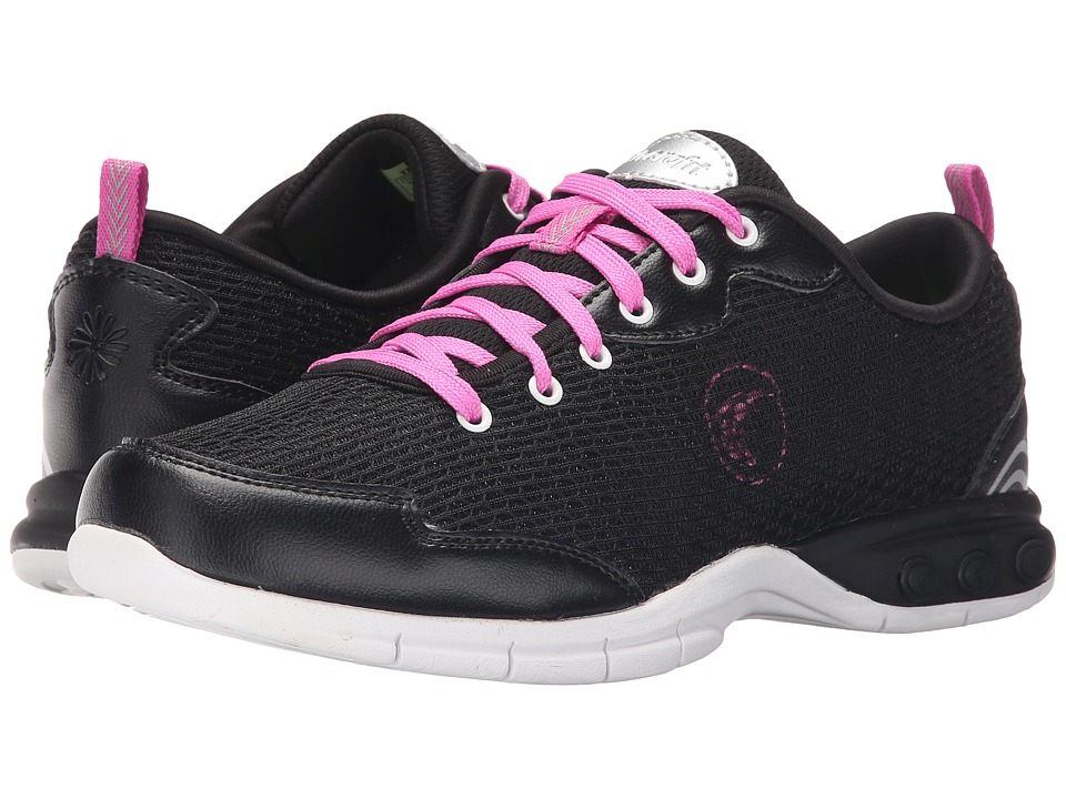 THERAFIT Candy Walker Black Womens Lace up casual Shoes