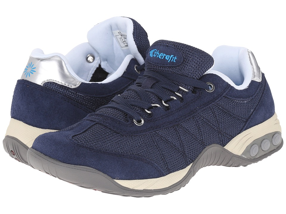 THERAFIT Brandy Navy Womens Lace up casual Shoes