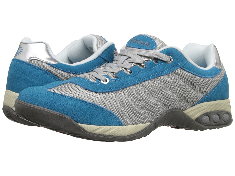 THERAFIT Brandy Grey/Blue Womens Lace up casual Shoes
