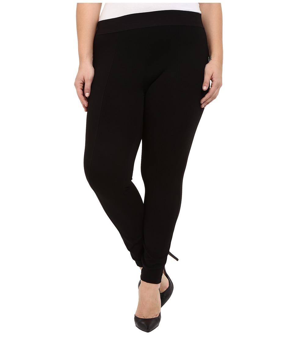 HUE - Plus Size Styletech High Waist Blackout Ponte Leggings (Black) Women's Casual Pants