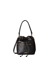 Rampage - Quilted Stripe Drawstring Hobo