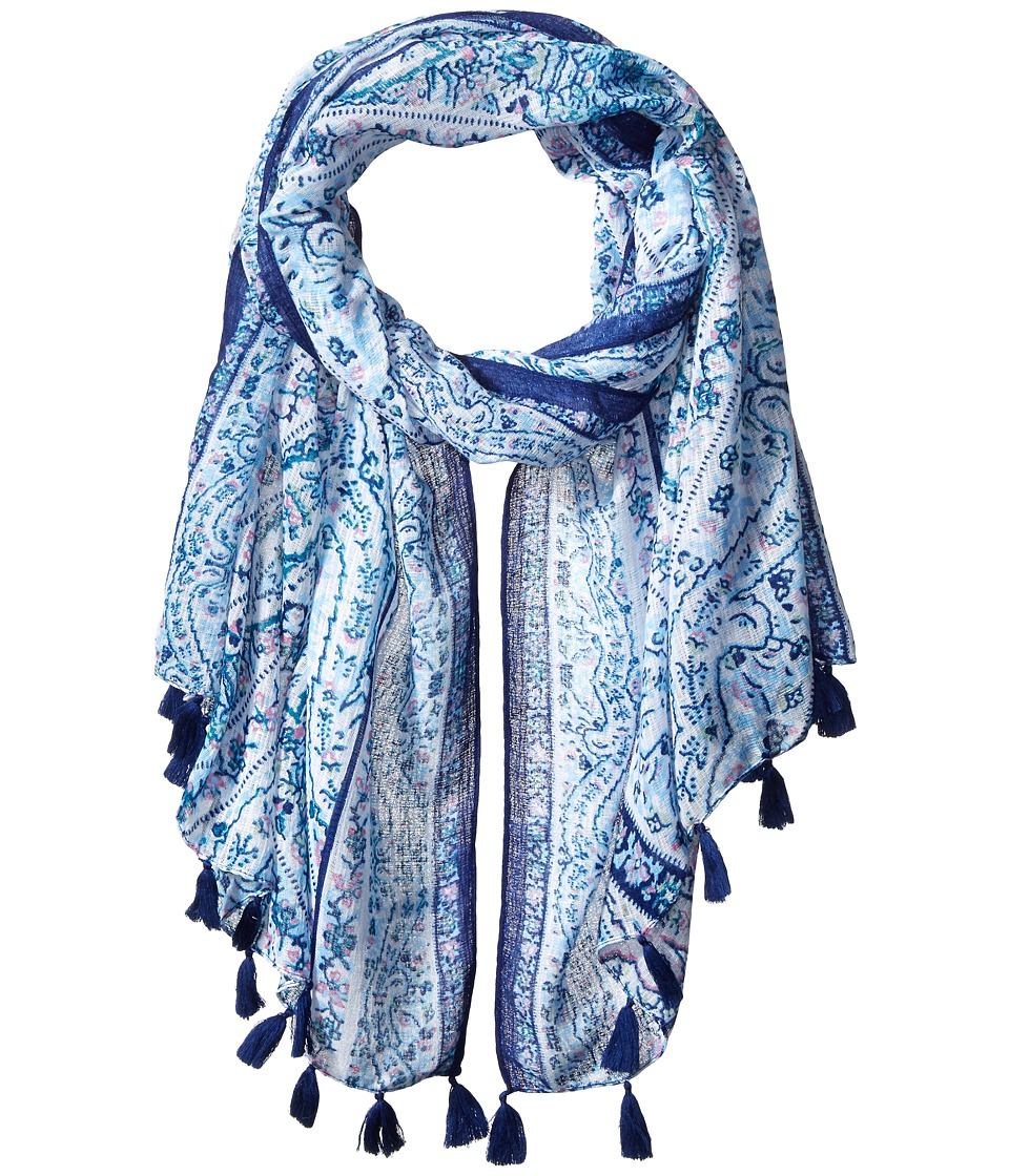 BCBGeneration Fairy Tiles Scarf Estate Blue Scarves