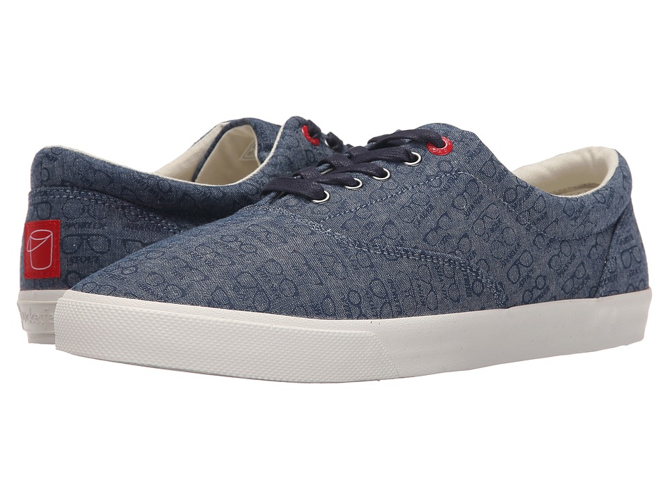 BucketFeet Beer Goggles Navy Mens Lace up casual Shoes