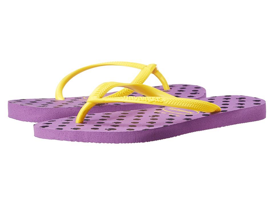Havaianas Slim Fresh Flip Flops Purple Womens Sandals