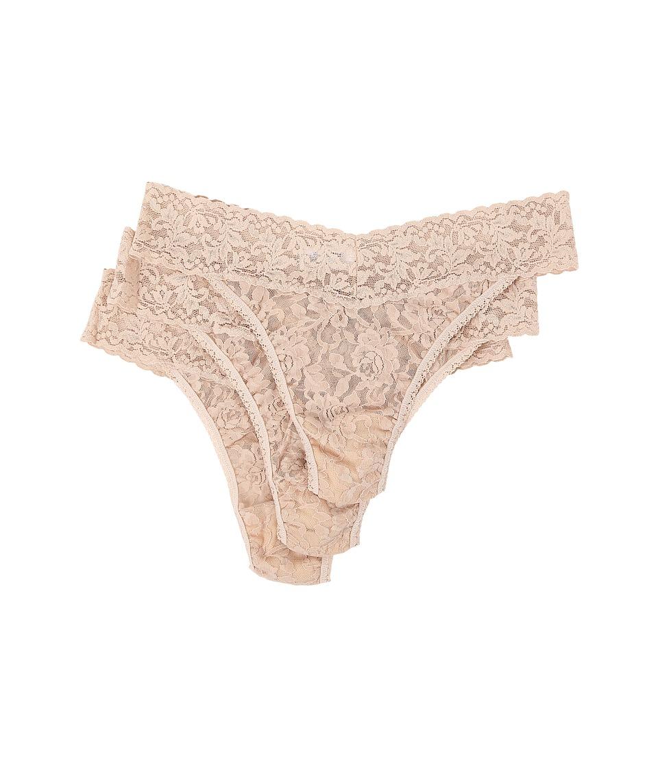 Hanky Panky 3 Pack Original Rise Thong Chai Womens Underwear