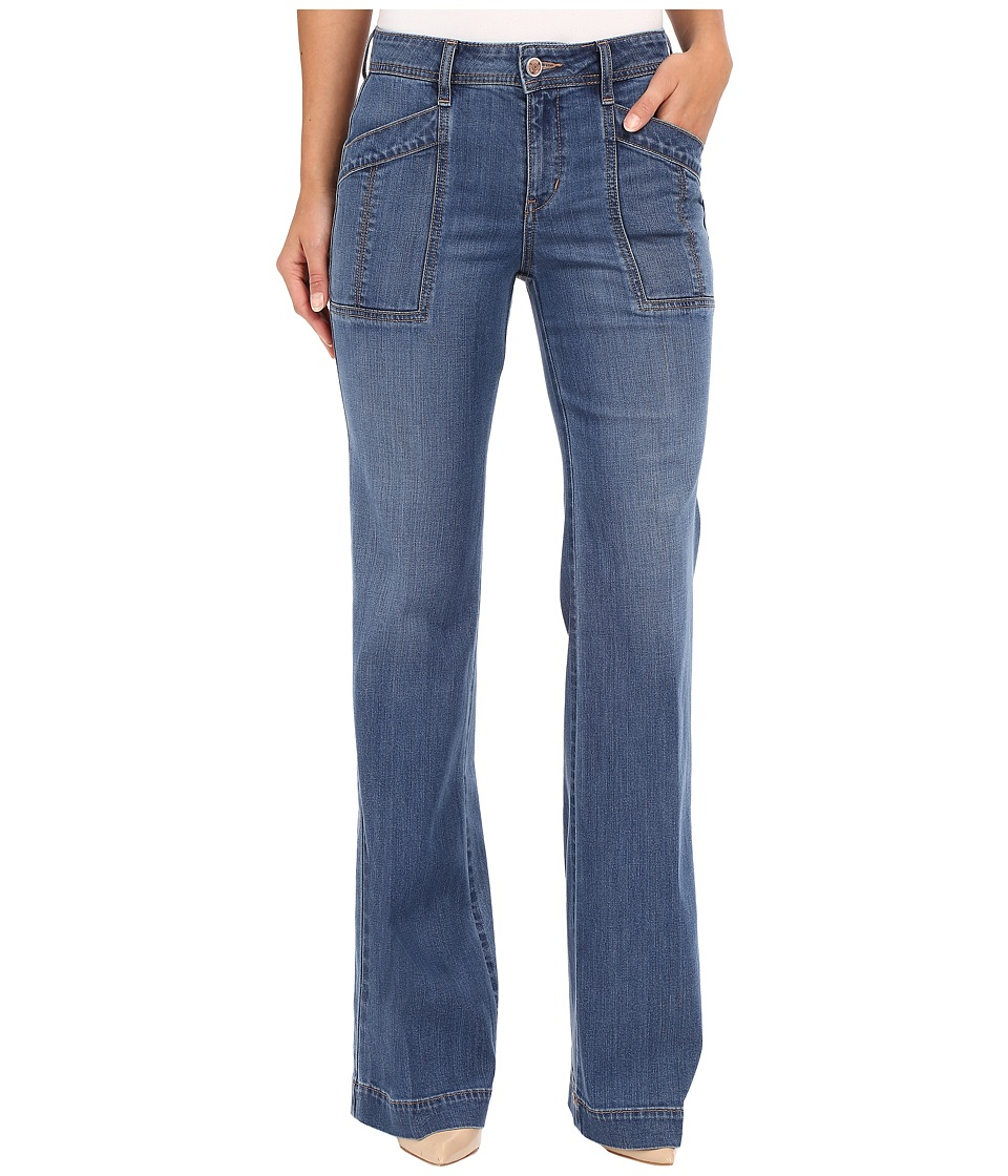 Level 99 Eve Mid Rise Wide Leg in True Blue True Blue Womens Jeans