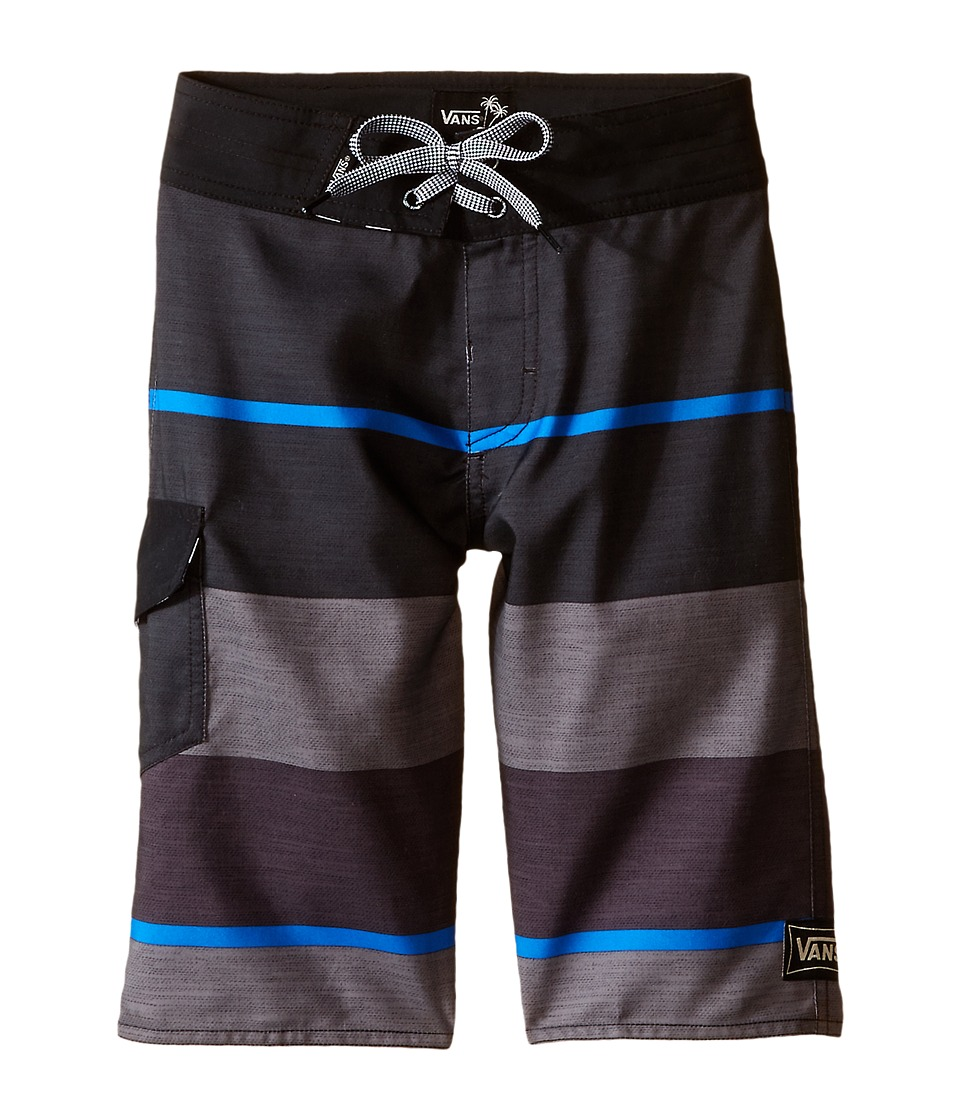 Vans Kids 56th Street Boardshorts Little Kids/Big Kids Black Boys Swimwear