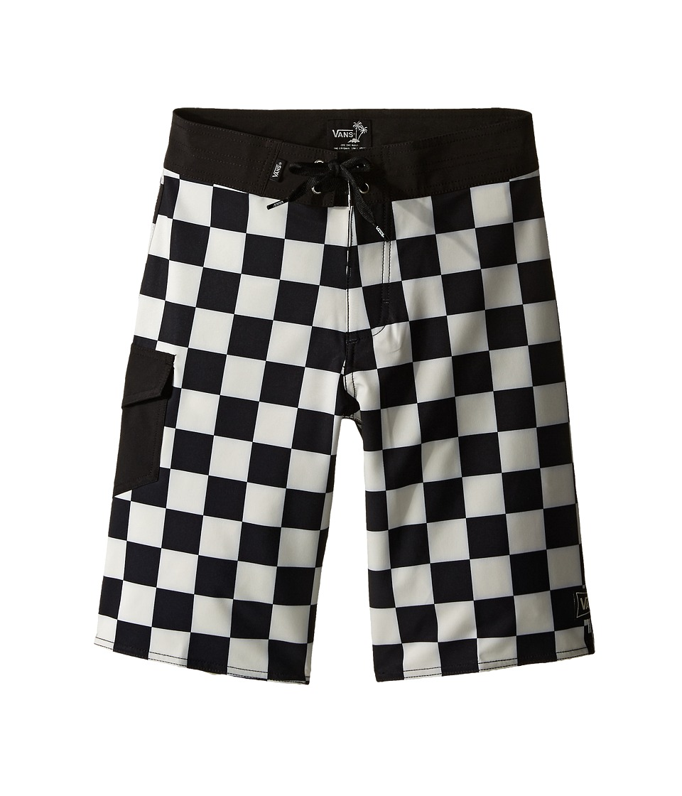 Vans Kids Ampster Boardshorts Little Kids/Big Kids Black/Whitecaps Boys Swimwear