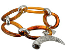 LAUREN Ralph Lauren Canyon Chic Organic Link Pave Horn Bracelet