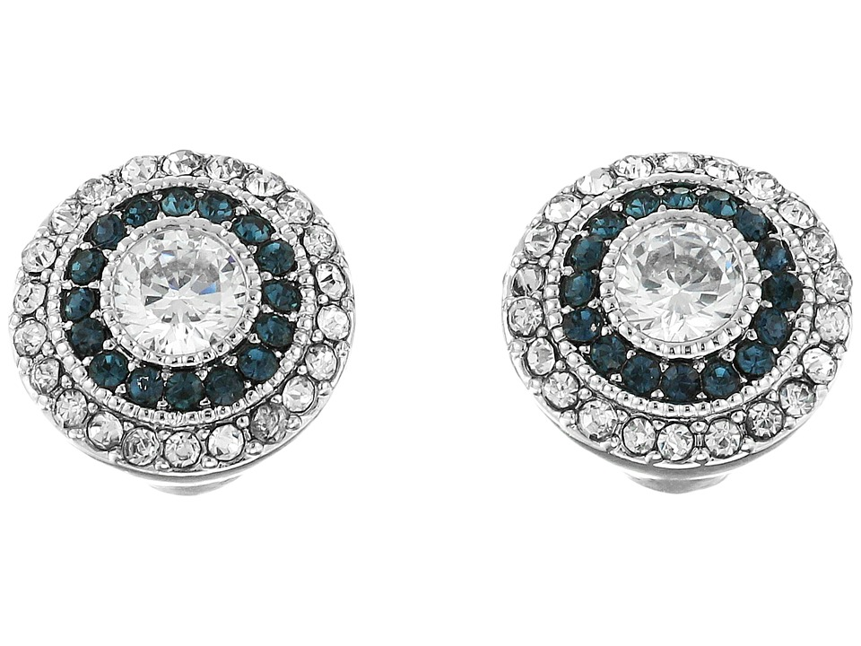 LAUREN Ralph Lauren - Vintage Crystal Stud Earrings (Silver/Crystal) Earring plus size,  plus size fashion plus size appare