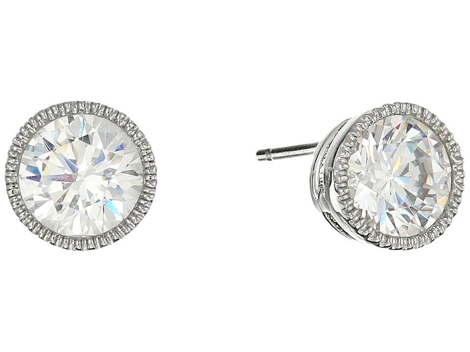 LAUREN Ralph Lauren - Small Stone Stud Earrings (Silver/Crystal) Earring