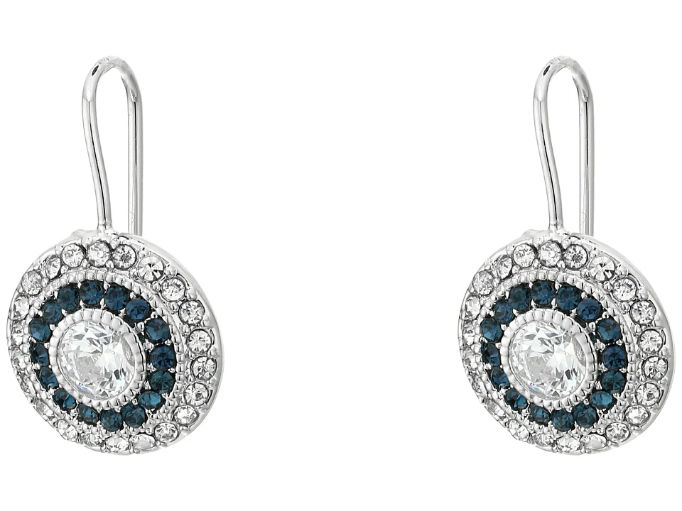 LAUREN Ralph Lauren - Vintage Crystal Drop Earrings (Silver/Crystal) Earring plus size,  plus size fashion plus size appare