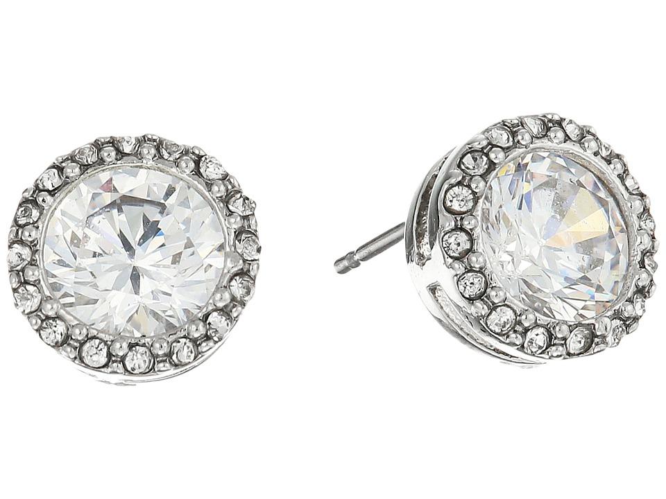 LAUREN Ralph Lauren - Halo Crystal Stud Earrings (Silver/Crystal) Earring