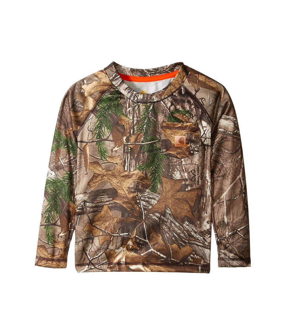 Carhartt Kids - Force Camo Pocket Tee (Toddler) (Realtree Xtra) Boys Long Sleeve Pullover