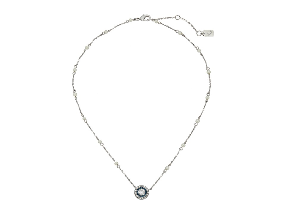 LAUREN Ralph Lauren - 16 Stone Pendant Necklace (Pearl/Crystal/Silver) Necklace