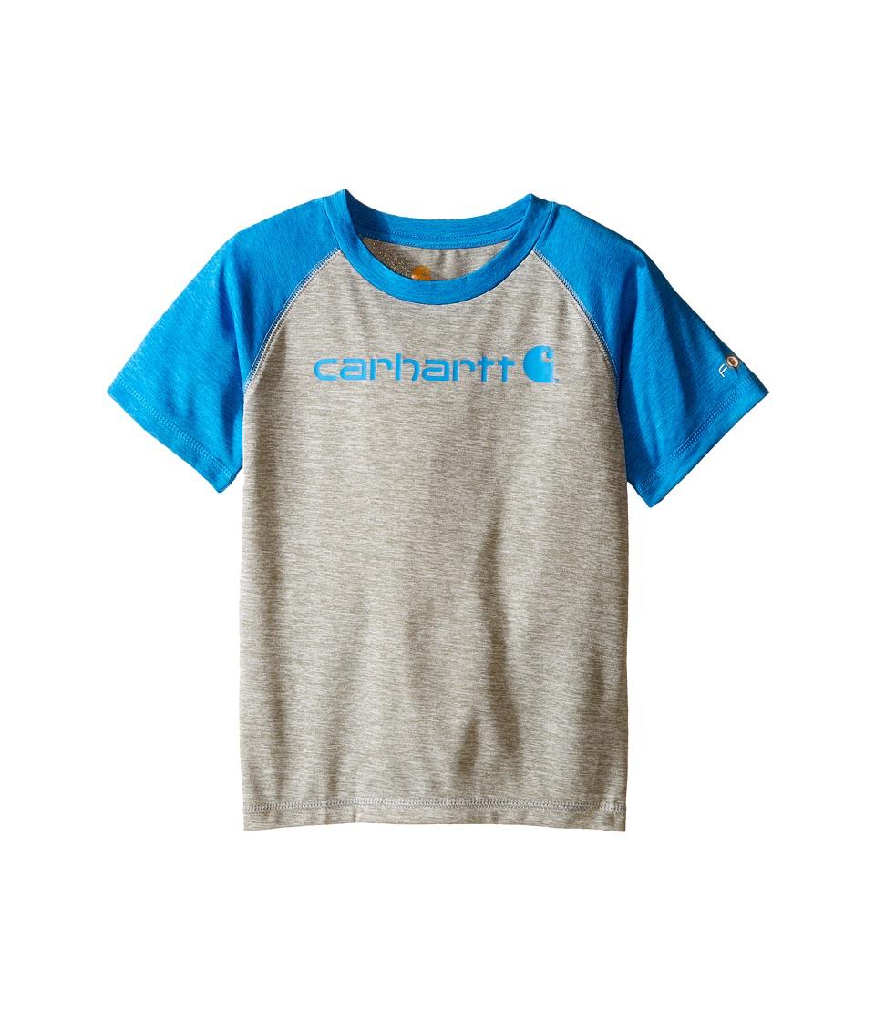 Carhartt Kids Force Raglan Tee Toddler Grey Heather/Blithe Boys T Shirt
