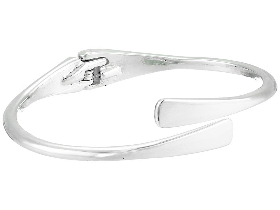 LAUREN Ralph Lauren - Belle Isle Sculptured Metal Hinged Bangle Bracelet (Silver) Bracelet