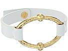 LAUREN Ralph Lauren Bali Leather Metal Link Bracelet
