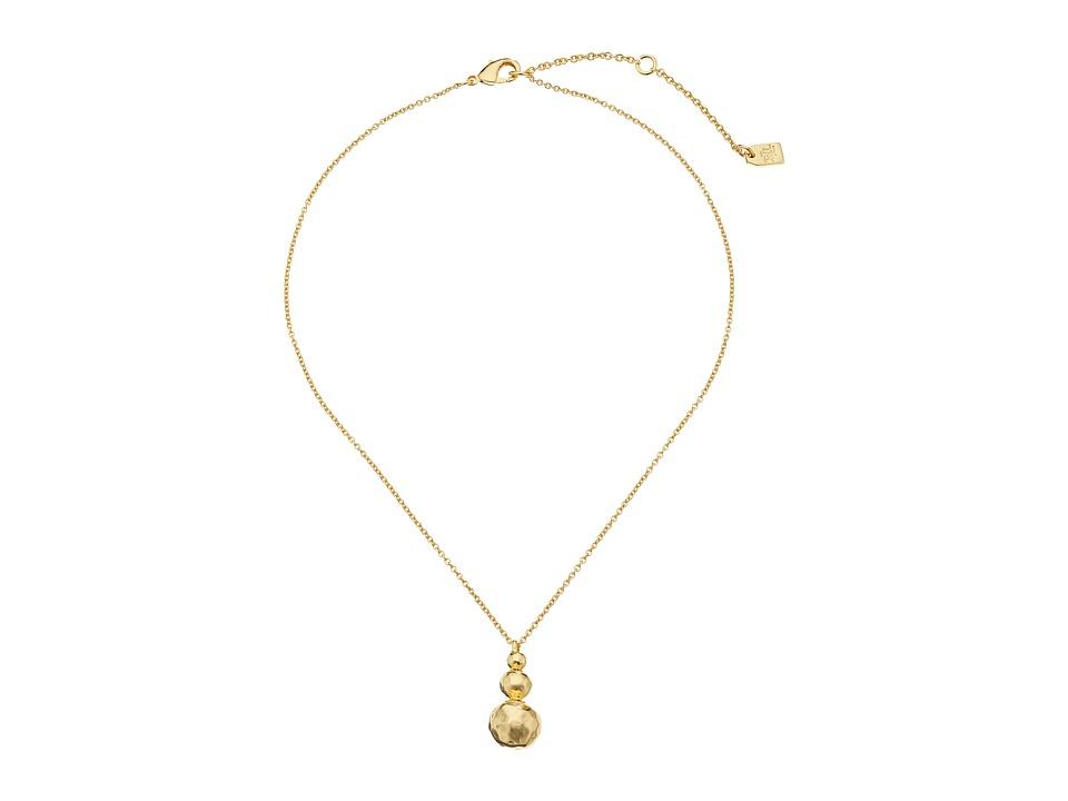 LAUREN Ralph Lauren Bali 16 Organic Metal Bead Pendant Necklace Gold Necklace