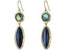 LAUREN Ralph Lauren Coastal Blue Large Stone Double Drop Earrings