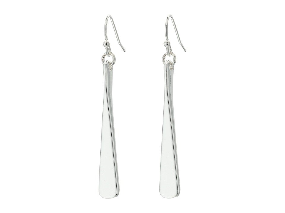 LAUREN Ralph Lauren - Belle Isle Sculptured Metal Drop Earrings (Silver) Earring
