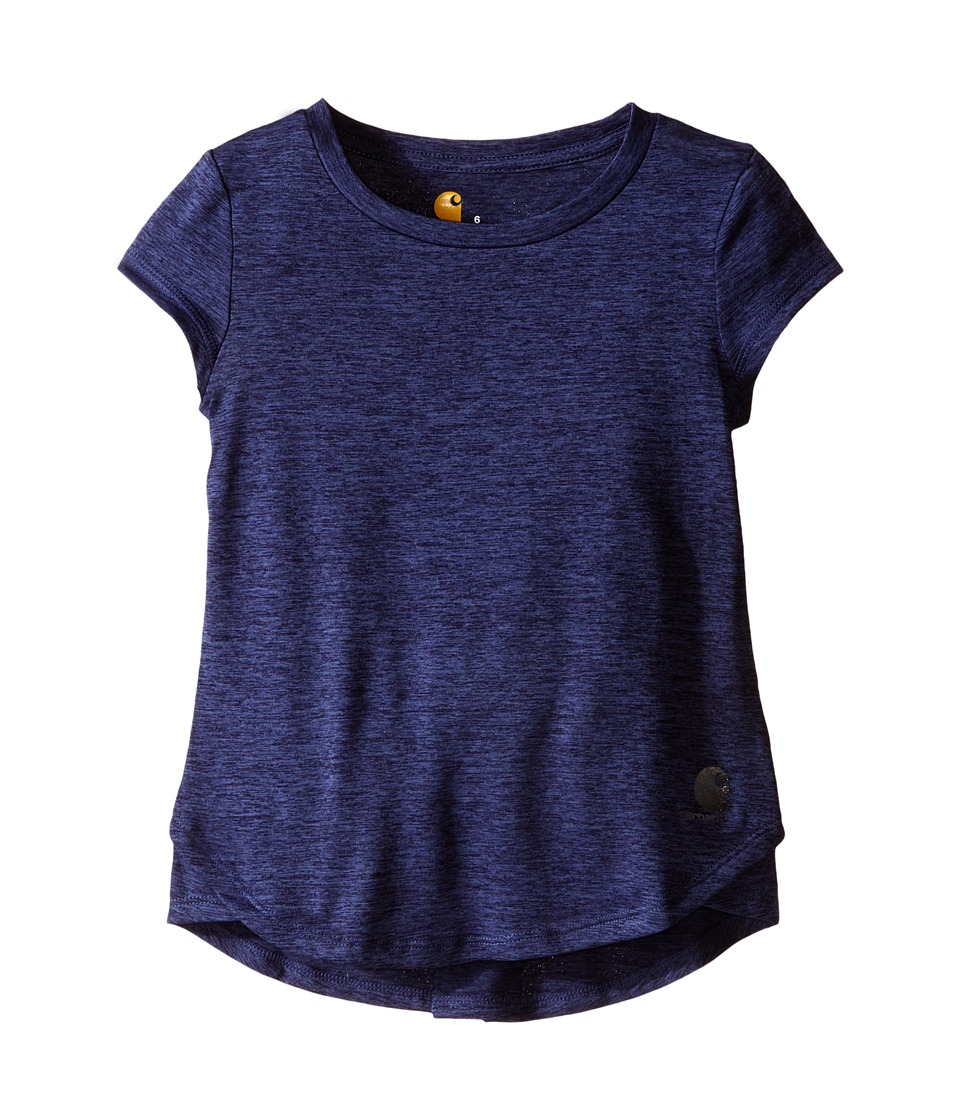 Carhartt Kids Force Tee Little Kids Deep Cobalt Heather Girls Short Sleeve Pullover