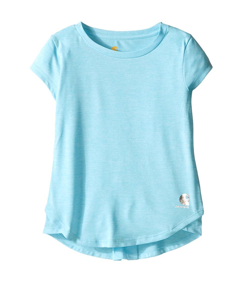 Carhartt Kids Force Tee Little Kids Gulf Stream Heather Girls Short Sleeve Pullover