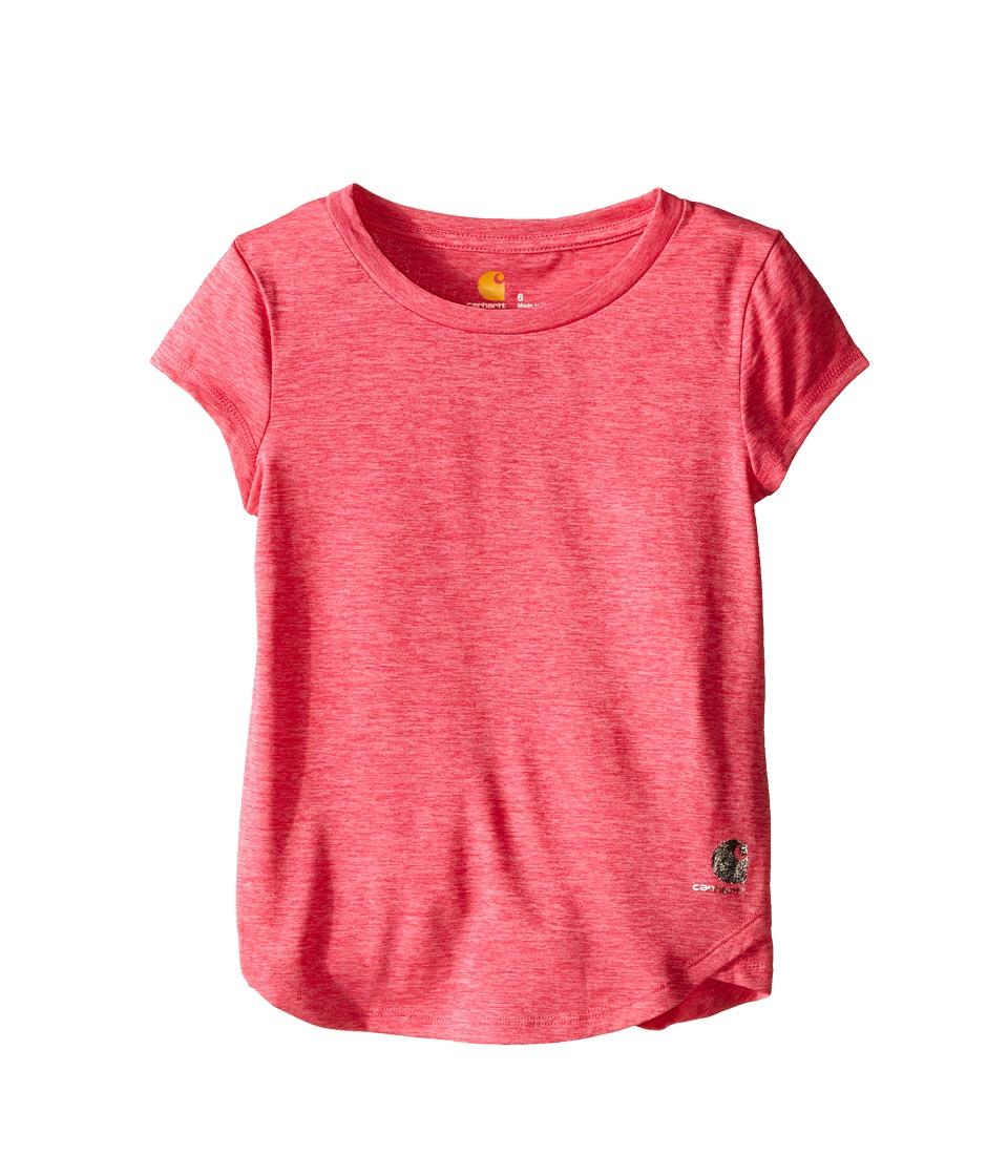 Carhartt Kids Force Tee Little Kids Fandango Pink Heather Girls Short Sleeve Pullover