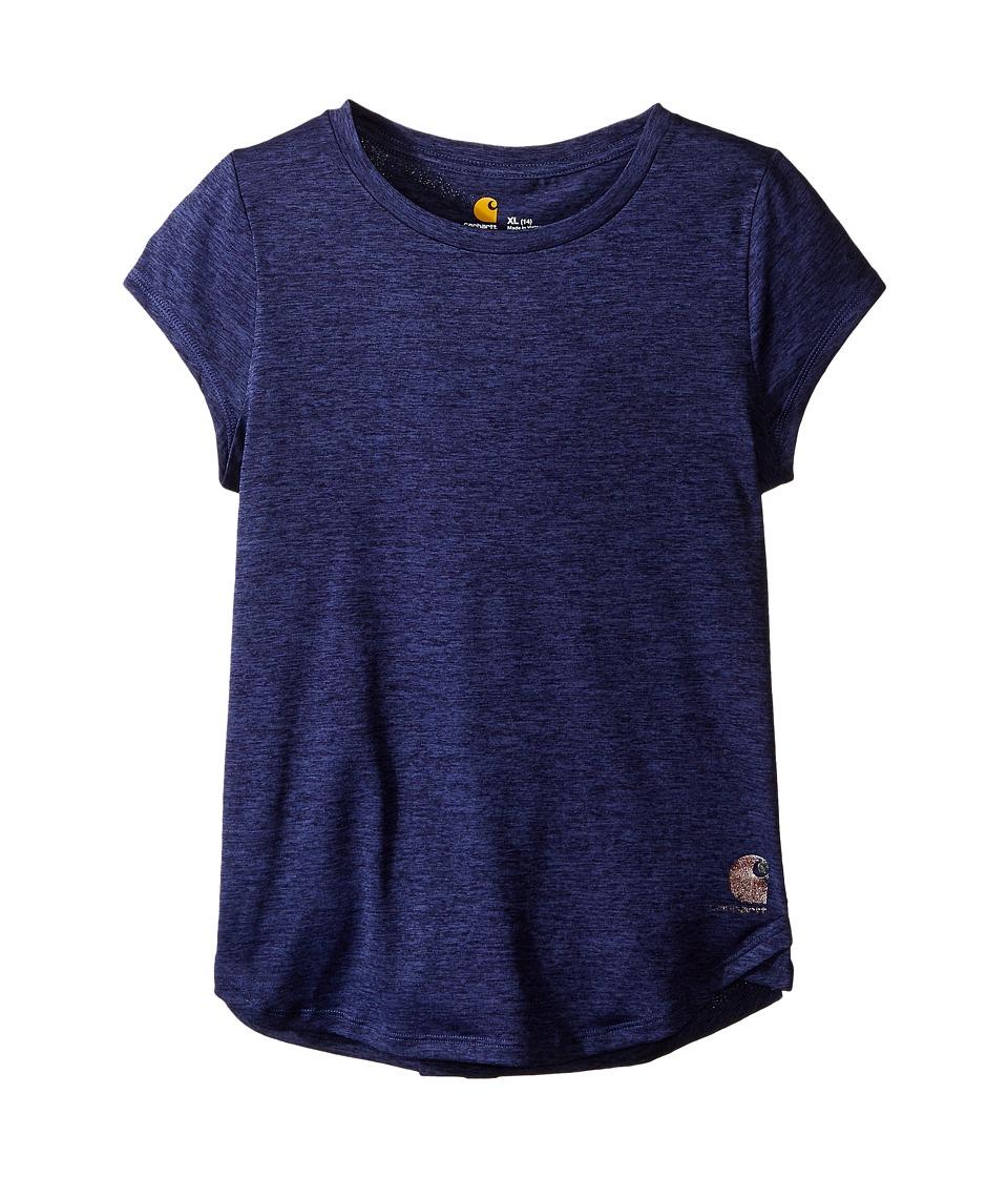 Carhartt Kids Force Tee Big Kids Deep Cobalt Heather Girls Short Sleeve Pullover