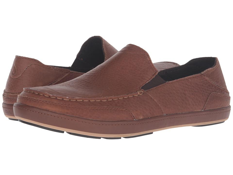 OluKai Puhalu Leather (Toffee/Toffee) Men