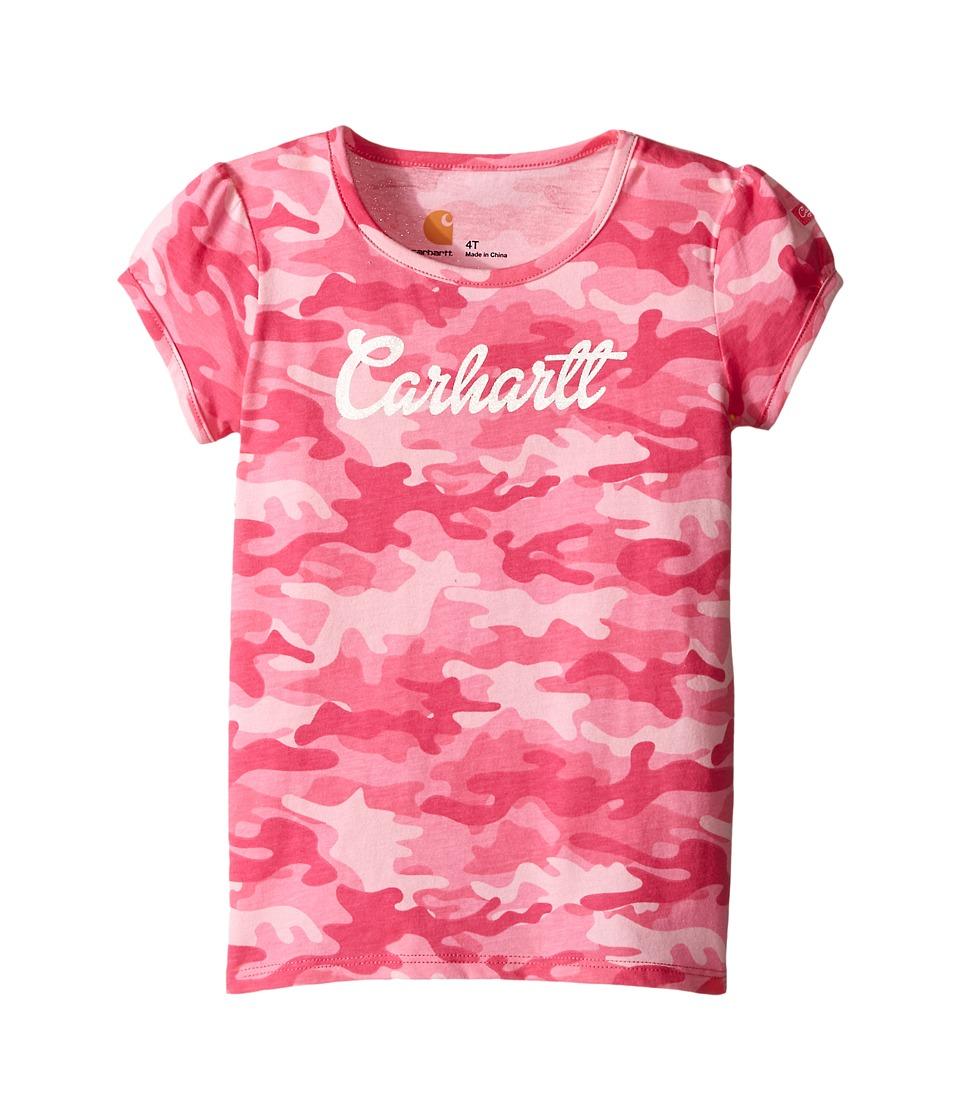 Carhartt Kids Camo Tee Toddler Pink Camo Girls Short Sleeve Pullover