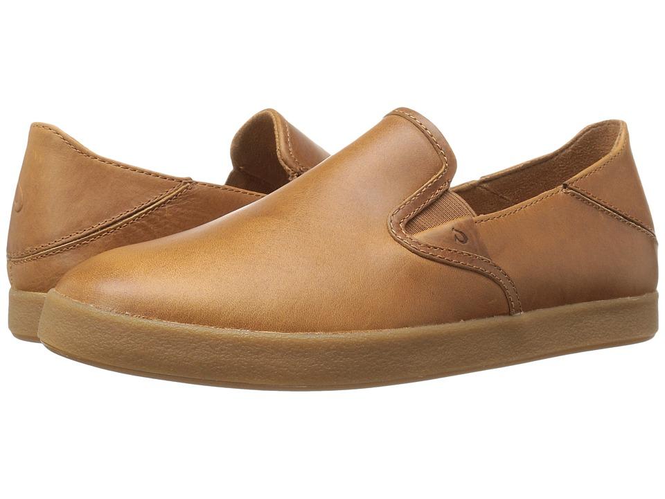 OluKai Makani Leather (Mustard/Mustard) Men