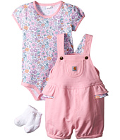Carhartt Kids - Three-Piece Gift Shortall Set (Infant)