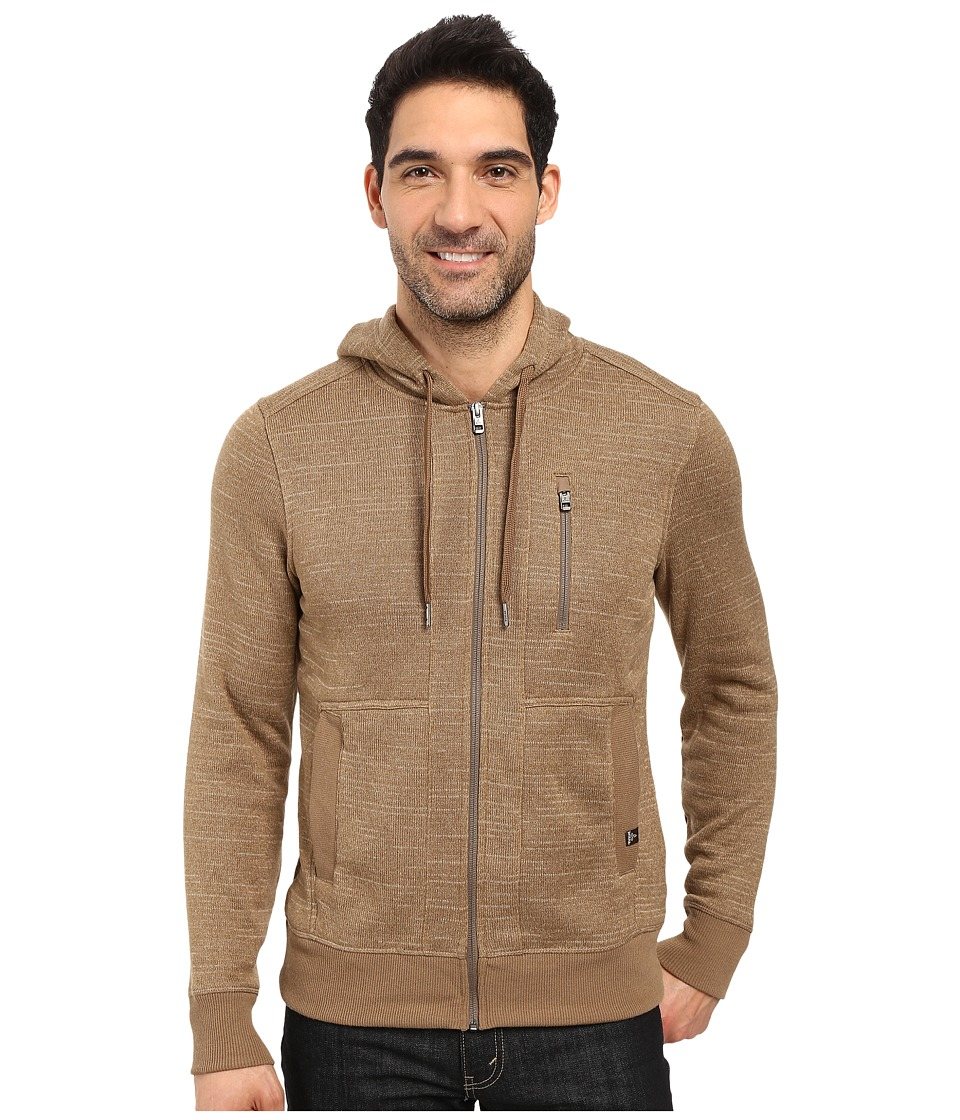 Prana - Performance Fleece Zip Hoodie (Dark Khaki) Men