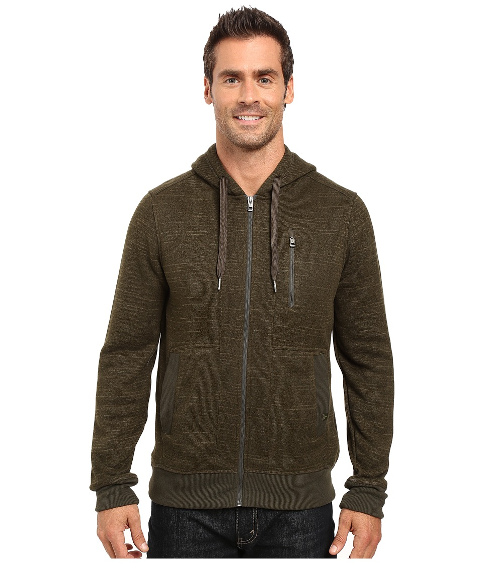Prana - Performance Fleece Zip Hoodie (Dark Olive) Men