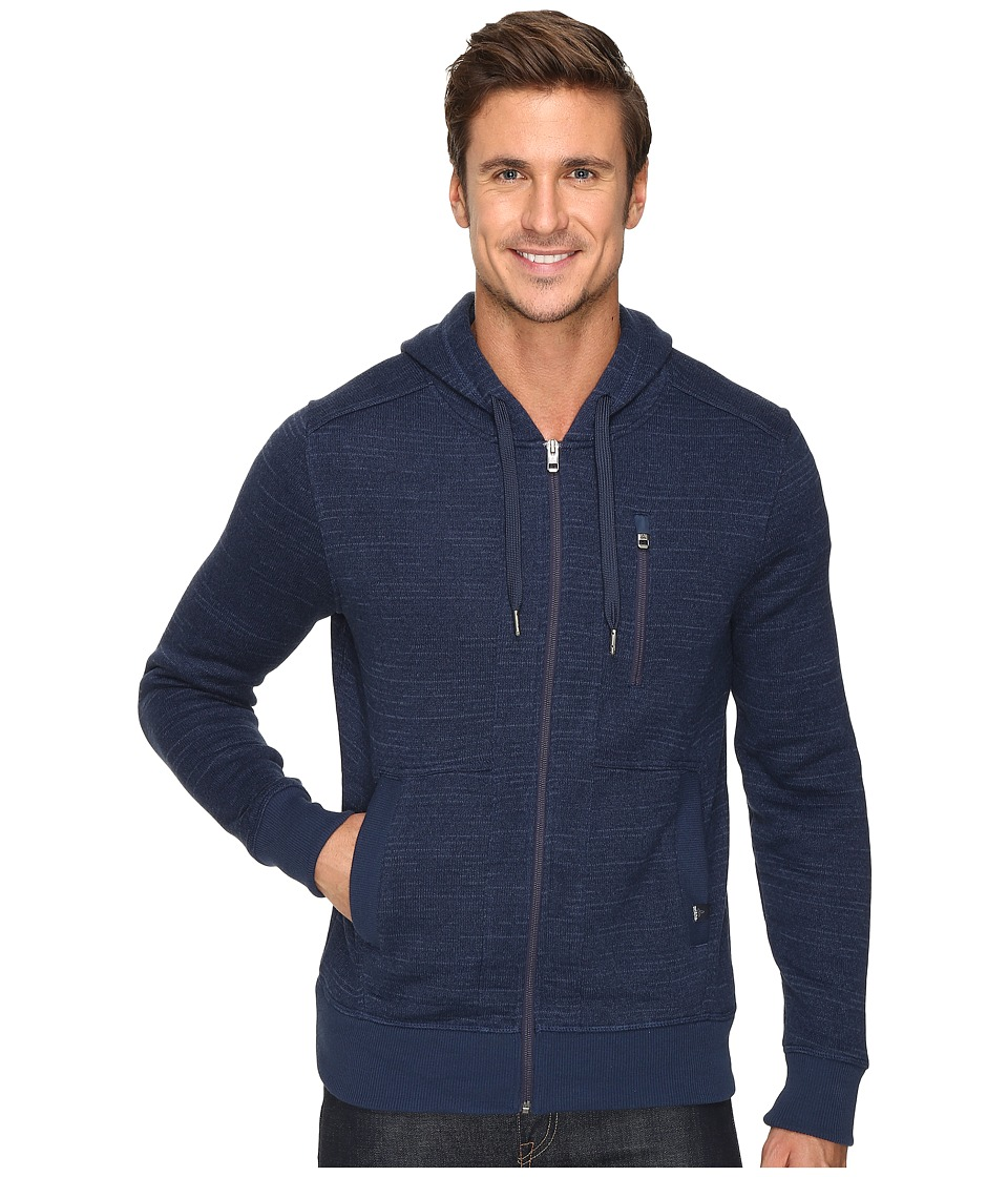 Prana - Performance Fleece Zip Hoodie (Dress Blue) Men