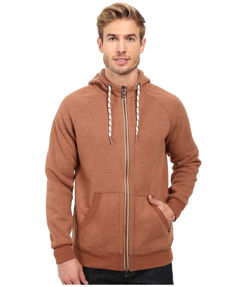 Prana - Lifetime Full Zip Sherpa Hoodie (Auburn) Men