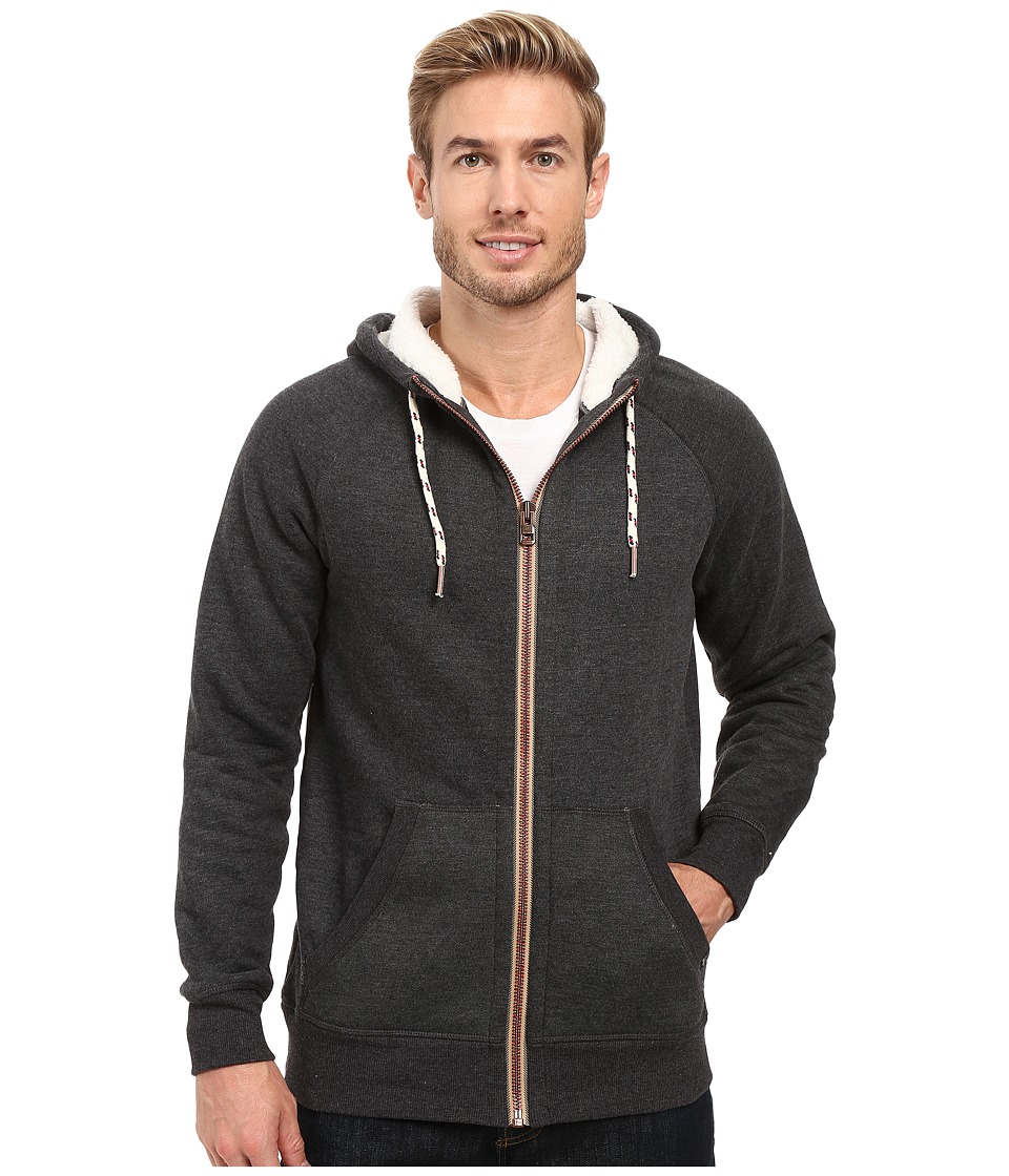 Prana - Lifetime Full Zip Sherpa Hoodie (Black) Men