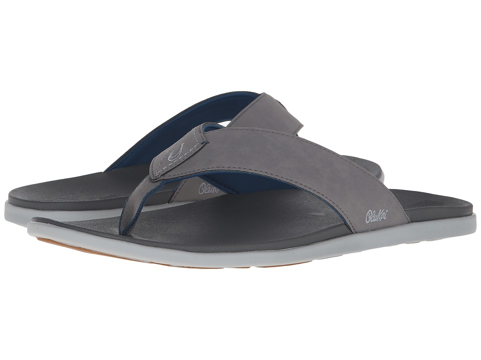 OluKai - Holona (Fog/Charcoal) Men's Sandals