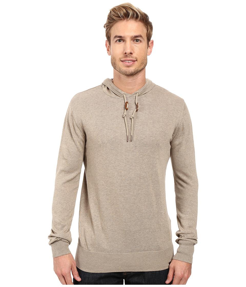 Prana - Throw On Hooded Sweater (Dark Khaki) Men