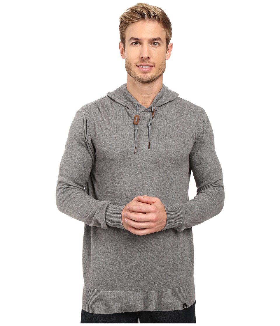 Prana - Throw On Hooded Sweater (Gravel) Men