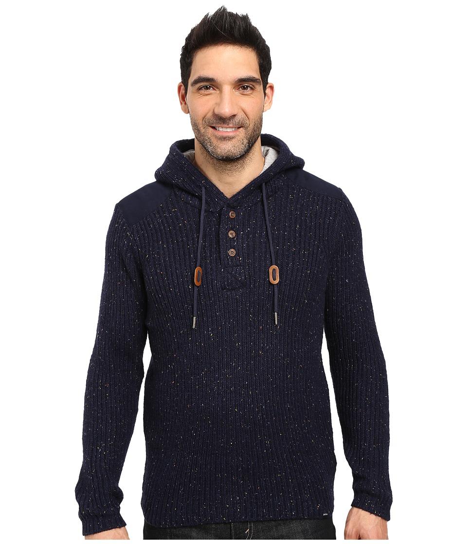 PRANA Hooded Henley Sweater (Nautical) Men's Sweater