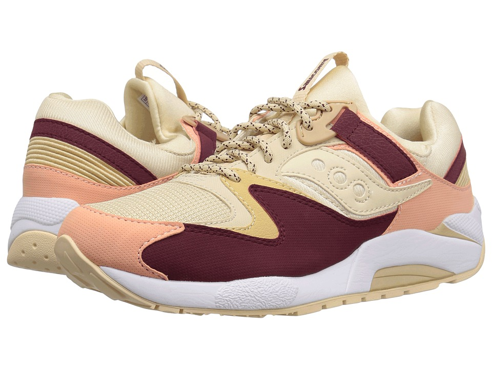 Saucony Originals - Grid 9000 (Cream/Red/Pink) Mens Classic Shoes