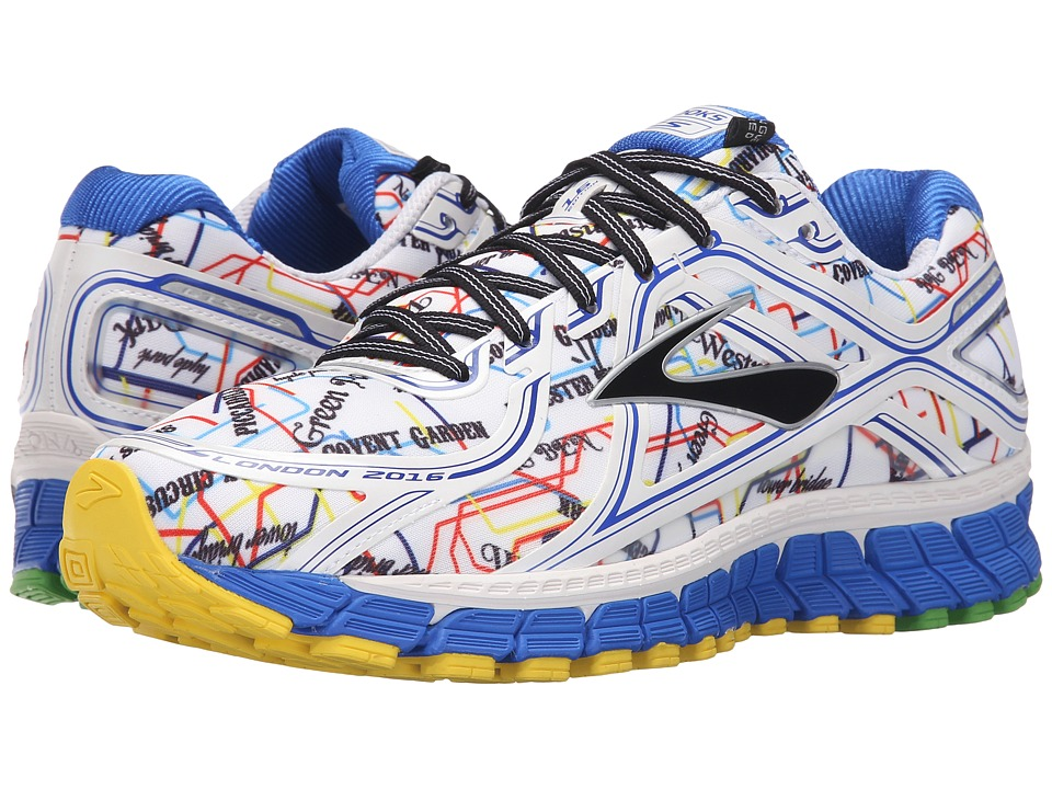 Brooks - Adrenaline GTS 16 (Electric Blue/High Risk Red/Black/Cyber Yellow) Men